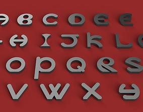 VERTICAL uppercase and lowercase 3D letters STL file