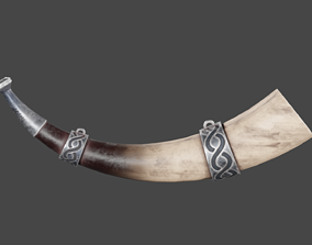 3D model Viking Horn Low Poly