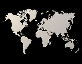 3D asset Earth world Extrude map