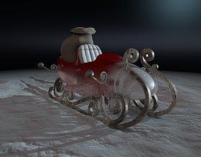 3D Sleigh Santa