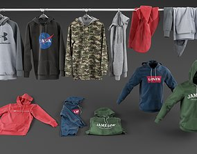 Hoodie collection 3D model hoody