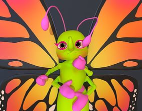 animated Asset - Cartoons - Character - Butterfly - Rig 2