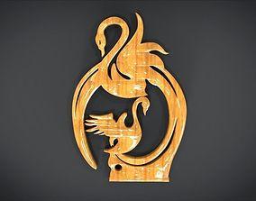 3D model Swan Frame Ornament Furniture
