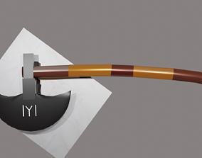 animated Turgut Alp Axe From Dirilis Ertugrul 3D Model 1
