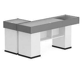3D model Grey Cashier Desk