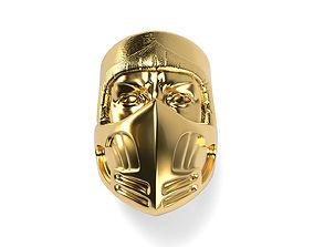 Mortal Kombat Scorpion mask ring 5 3D printable model
