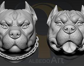 3D printable model Pitbull Head