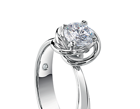 platinum Knotted style ring 3D printable model