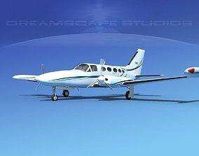 3D Cessna 414 Chancellor V05
