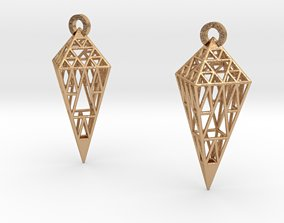 3D print model Sierpinski Earrings