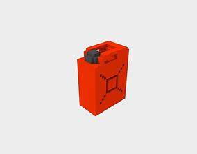 3D asset Voxel Gas Gallon