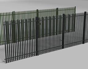 Low poly fence 3D asset