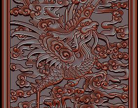 3D print model Antique Vietnamese Phoenix Gilt Carved 3