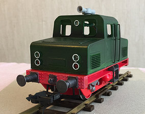 3D print model RC controlled shunting locomotive in zero 3