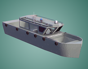 Military Speed Boat 3d Model Game Ready VR / AR ready 1