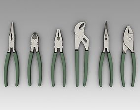 Pliers cutting 3D model