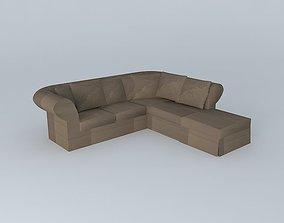 Roma corner sofa taupe houses the world 3D model