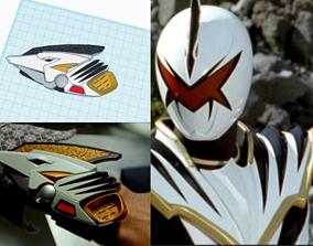 3D print model Power Rangers White Dino Thunder 1