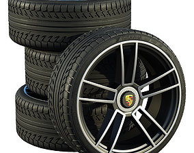 Porsche wheels 3D model luxury