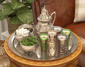 3D model Moroccan Tea Set
