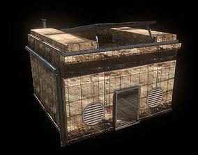 Desert Bunker Sci Fi Sand Punk Building House 3D model 1