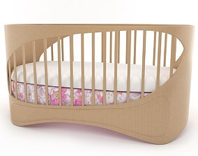 3D model baby crib bedroom
