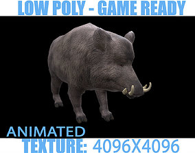 3D asset Boar animated
