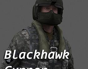 3D asset US Army Blackhawk Gunner