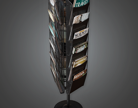 3D model Commerical Magazine Rack - SAM - PBR Game Ready