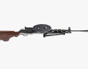 3D asset DP-27 Machine Gun