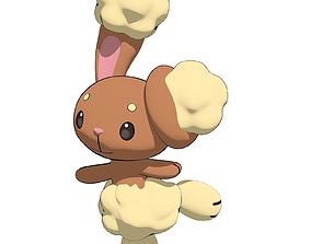 3D rigged Buneary Pokemon