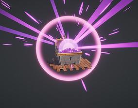 3D model Treasure Chest Loot Box FX