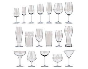 3D asset Glassware Set