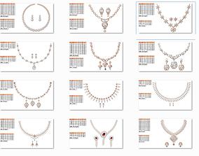 3D printable model 50 Women necklace-earrings set jcd 1