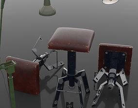 3D asset Industrial vintage bar sool