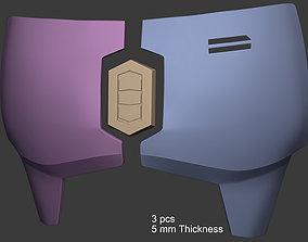 3D print model Mandalorian Chest Armor Plates with Center