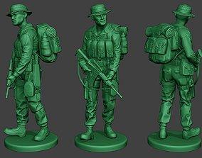 3D print model Modern Jungle Soldier Walk3 MJS1