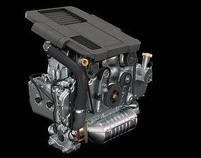 Car Engine garage 3D model