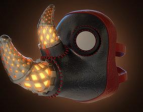 Printable Rhinoceros Doctor Plague Mask 3D model