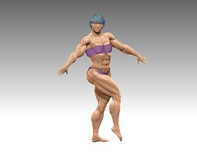 Bodybuilder Nice bikini figure 3D print model