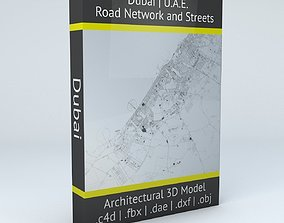 3D model Dubai Road Network and Streets