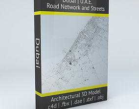 3D model Dubai Road Network and Streets