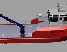 vessel 3D model Fishing Vessel