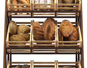 Rack with bread 3D model