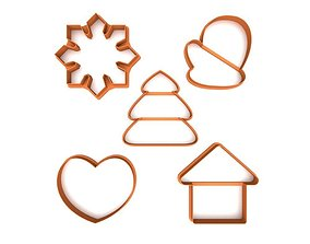 3D printable model Cookie cutter pack - Winter Pack