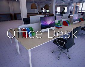 3D model game-ready Office Desk SHC Quick Office LM