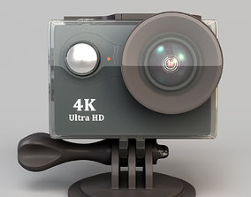 3D asset Action camera in a protective box