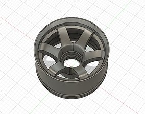 3D print model TE37 style 22mm BMR-X wheels 3 offsets