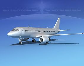 3D Airbus A319 Bare Metal V00