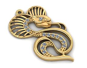 3D printable model Snake cobra pendant